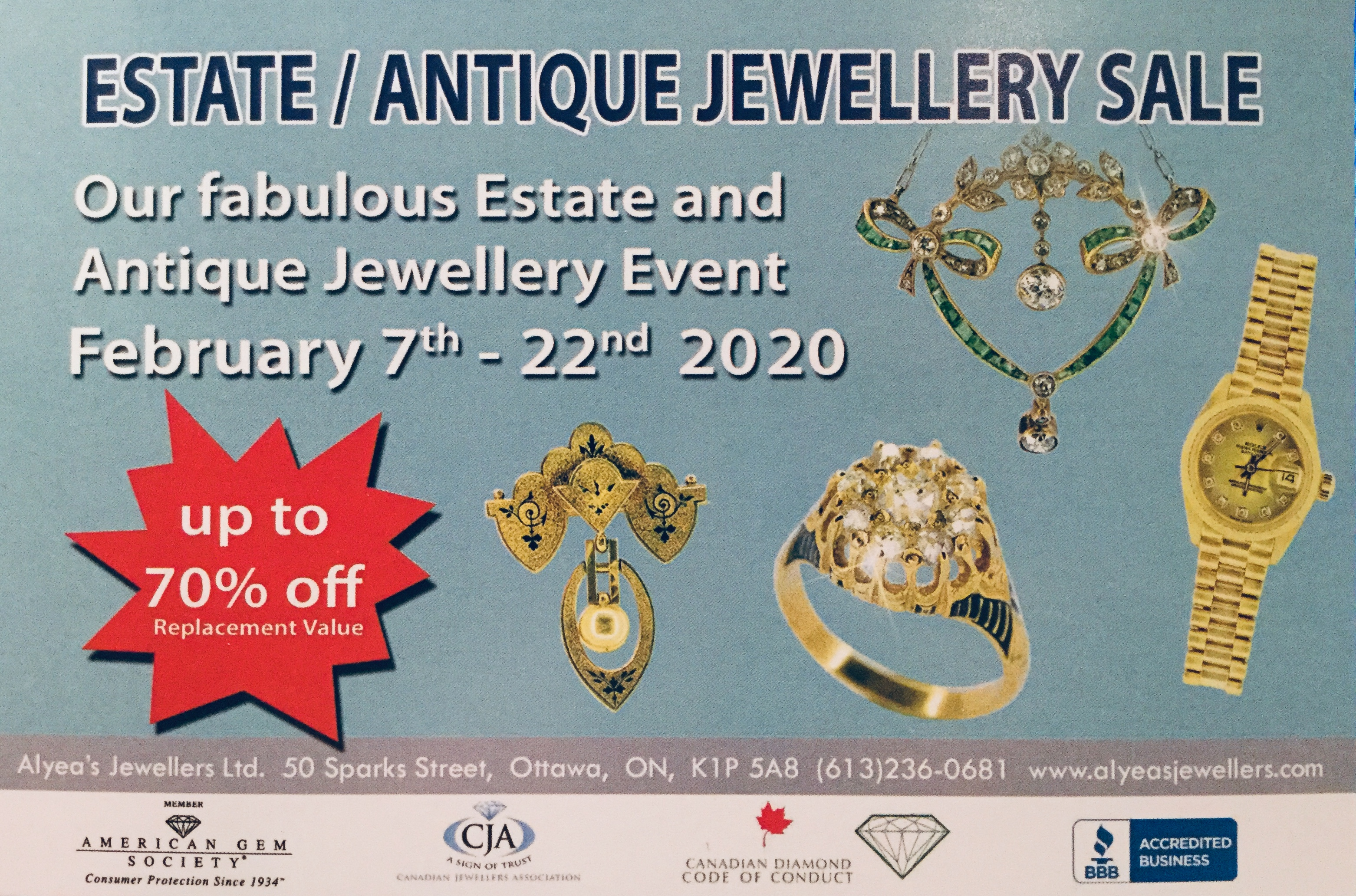 Alyea's Estate and Antique Jewellery Event 2020