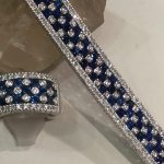 White gold sapphire and diamond bracelet and matching ring