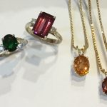 multi-coloured garnet jewellery