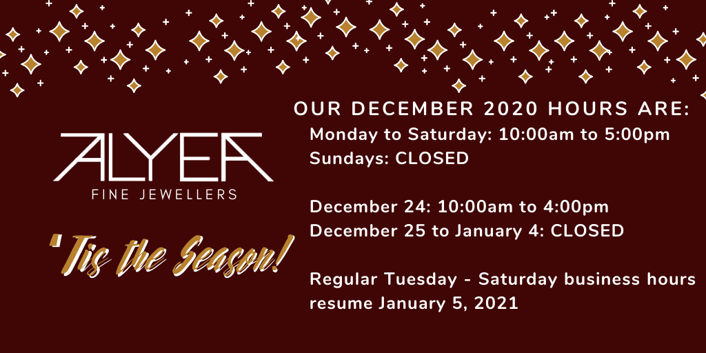 December 2020 Opening Hours